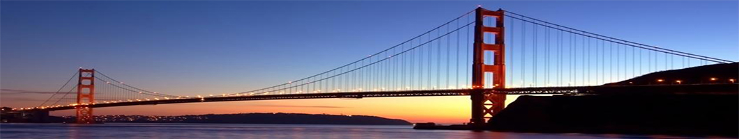 San Francisco Gloden Gate Bridge at Dusk in April 2008